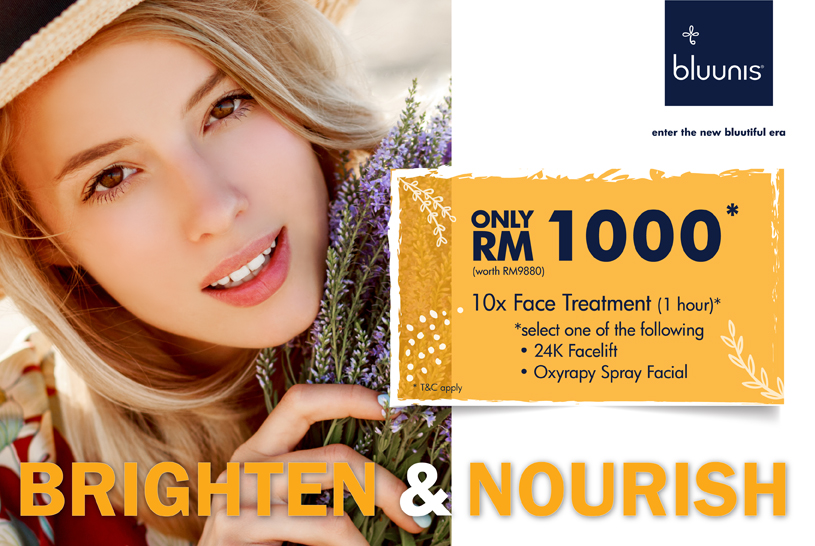 bluunis facial treatment promotion