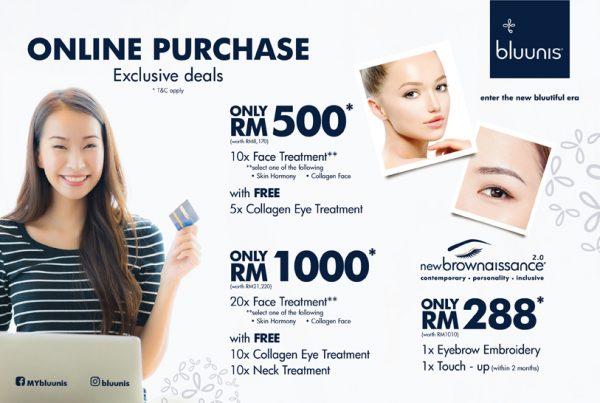 bluunis promotion offer beauty exclusive