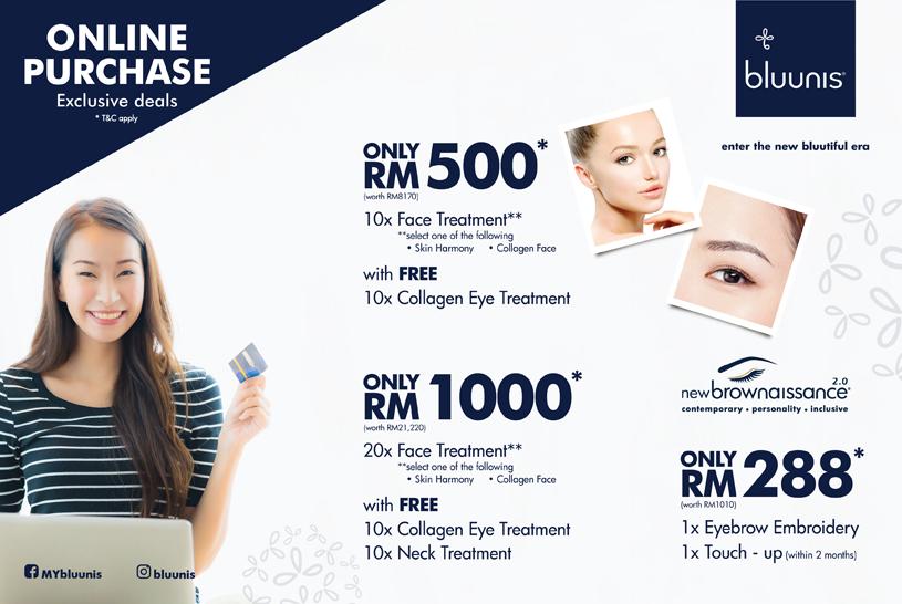 bluunis Online purchase deals facial eyebrow embroidery