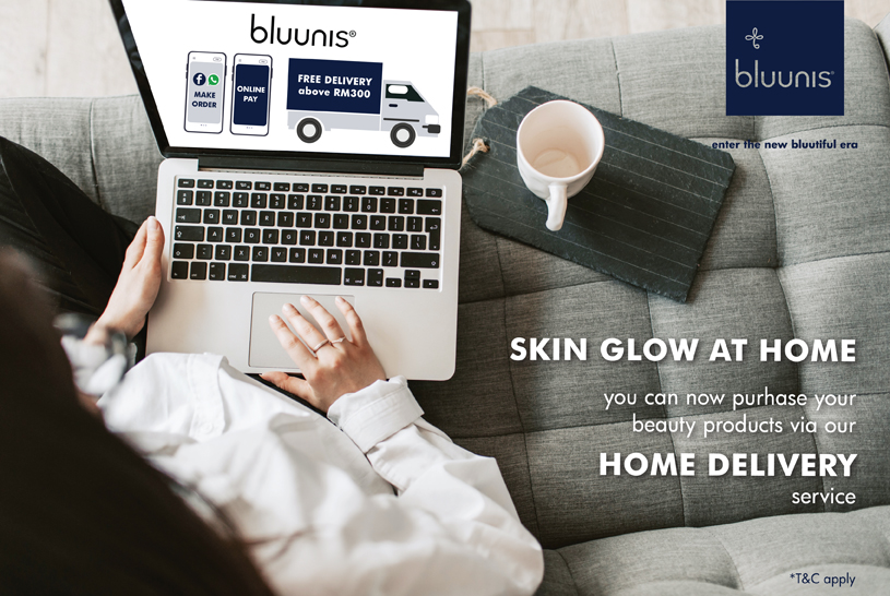 delivery home sweet skincare bluunis
