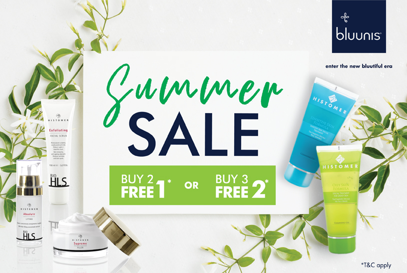 bluunis skincare sales summer deals Histomer